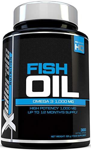 Xellerate Nutrition Omega 3 Fischöl 365 Gel Kapseln