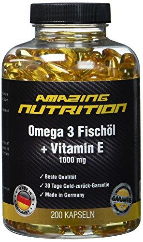 Amazing Nutrition Omega 3 Fischöl 200 Kapseln