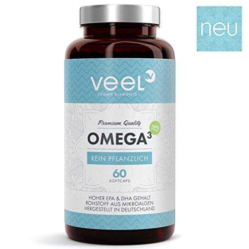 Veel 60 Omega 3 Kapseln Vegan mit Vitamin E