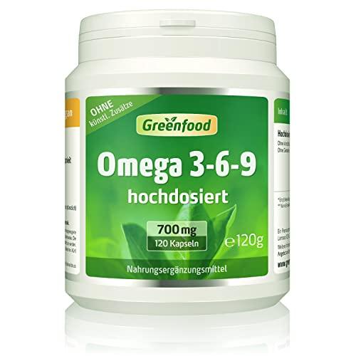 Greenfood Omega 3-6-9 120 Softgel-Kapseln