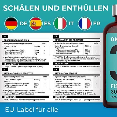 Iron Ore Health 180 Omega 3  Platinum Fischöl Kapseln - 5