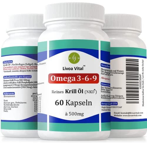 Livoa Vital 60 Omega 3 Krillöl Kapseln - 2
