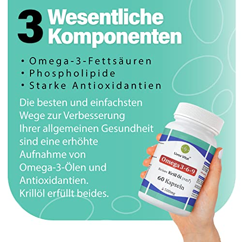 Livoa Vital 60 Omega 3 Krillöl Kapseln - 3