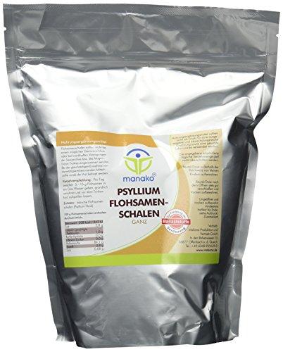 Manako prebiotic Psyllium Flohsamenschalen 500g  Beutel