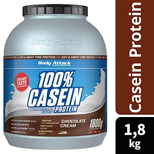 Body Attack 100% Casein Protein Chocolate Cream , 1er Pack (1 x 1.8 kg) - 2