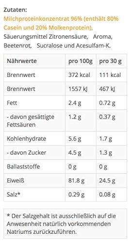 Casein-Protein von TNT   Eiweiß-Pulver mit Aminosäuren für Fitness, Sport & Bodybuilding   Protein-Shake für Muskelaufbau und Abnehmen   Naked Casein Protein-Pulver   1kg Beutel – Erdberre - 4