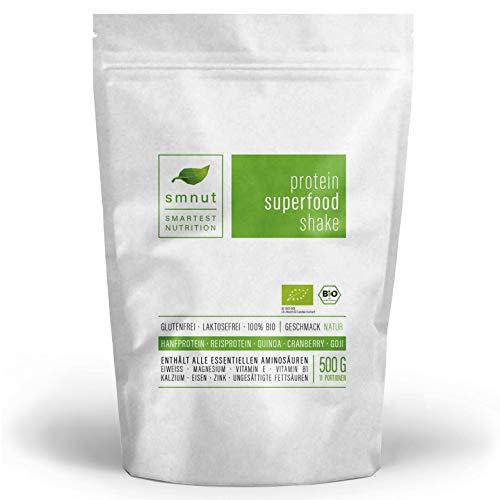 Smnut veganes Superfood Shake Proteinpulver Natur 500g
