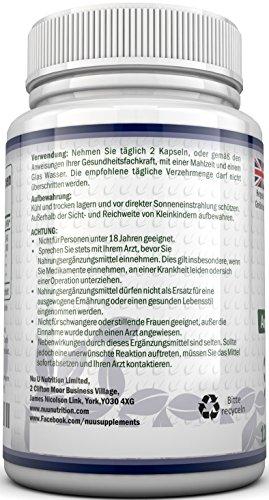 OPC Traubenkernextrakt – 120 OPC-Kapseln (2 Monatsvorrat) – OPC hochdosierte 500mg pro Portion OPC-Kapseln mit zusätzlichem Vitamin C & E – Für Vegetarier & Veganer geeignet - 4
