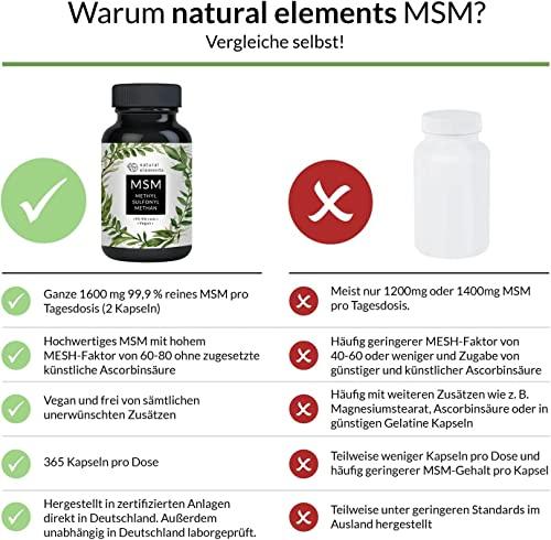 Natural Elements 365 MSM Kapseln - 2