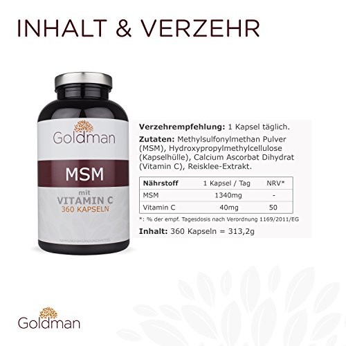 Goldman MSM Schwefel 6 Monatsvorrat - 2