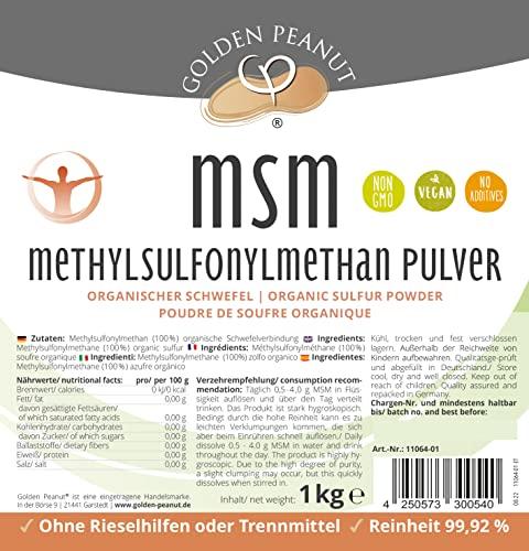 Golden Peanut MSM Methylsulfonylmethan Pulver 1000g - 3